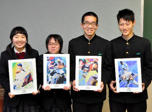 愛媛・三島高生にブロンズ賞 高校野球ポスター原画コン